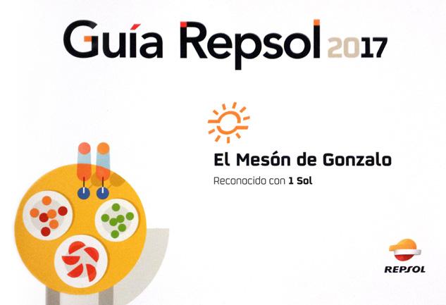 El Mesón de Gonzalo consigue su primer Sol Repsol