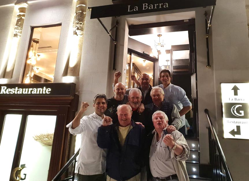 El padre del golfista Jon Rahm, de visita en Salamanca