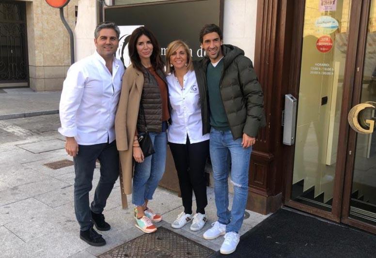 Raúl Gonzalez, leyenda del Real Madrid, en nuestra casa